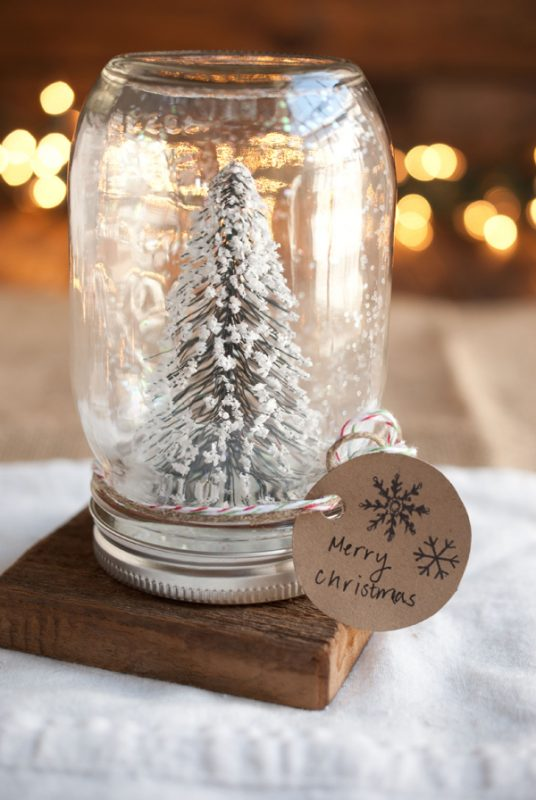 INSPIRED! Make your own Anthropologie snow globe for a fraction of the price!