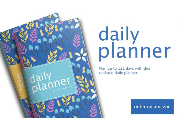 Pretty floral daily planner