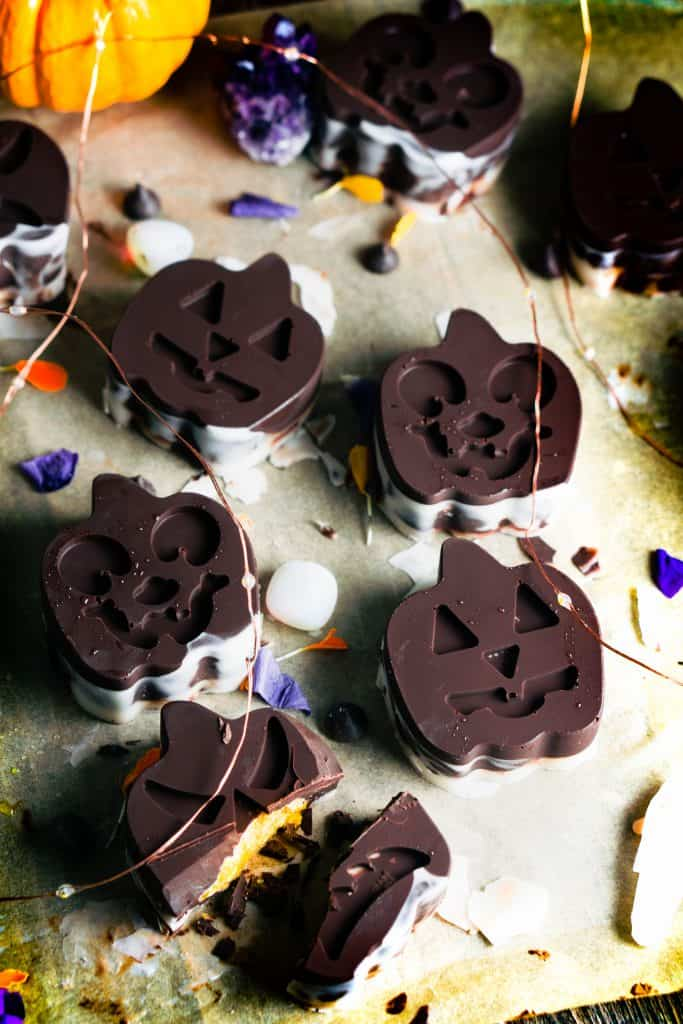Dark Chocolate Pumpkin Coconut Butter Cups