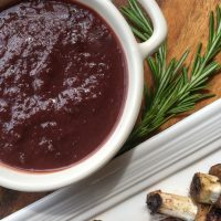 Homemade Dark Cherry BBQ Sauce