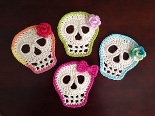 Day of the dead crochet skull
