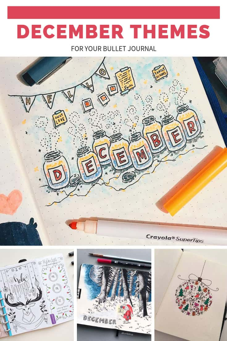 December Bullet Journal Themes