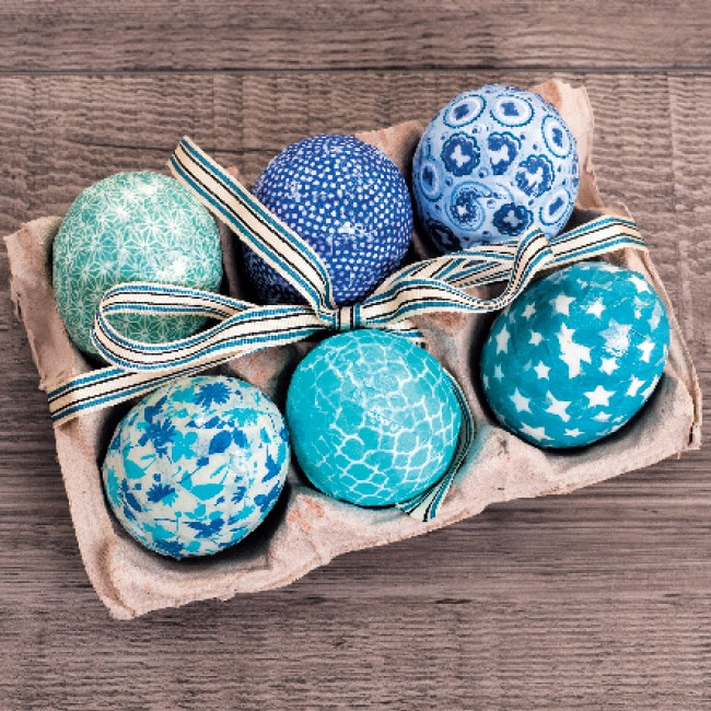 Fabric Look Easter Eggs