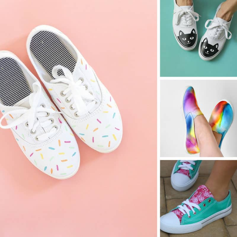 These DIY sneakers look awesome!