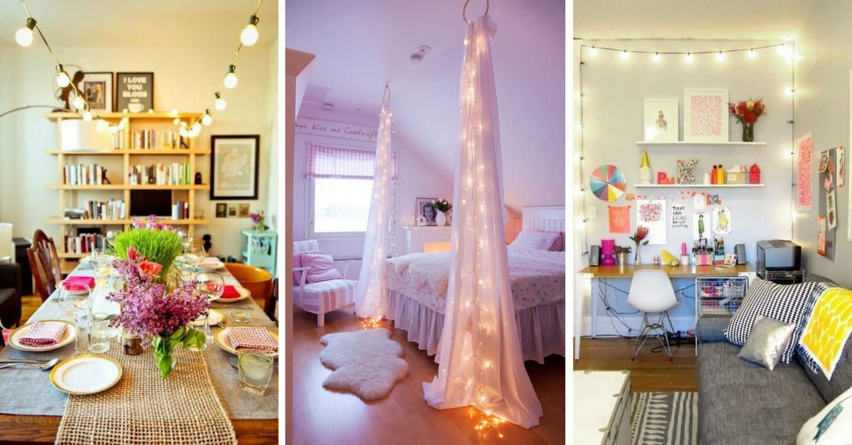 Indoor christmas lights decorating ideas to make your - Indoor string light decoration ideas ...