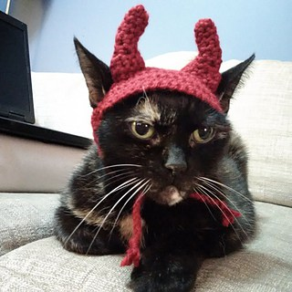 Devil Cat Crochet hat