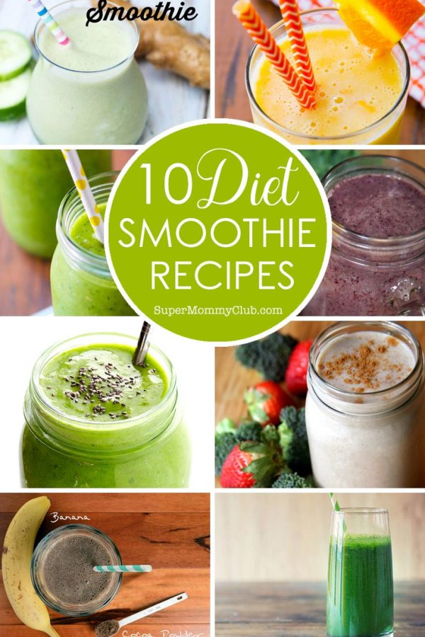 These diet smoothie recipes look delicious - so much nicer than those store bought shakes!