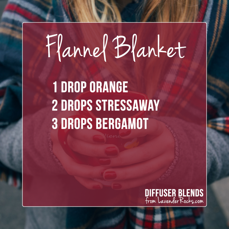Flannel Blanket - for more Fall diffuser blends visit justbrightideas.com