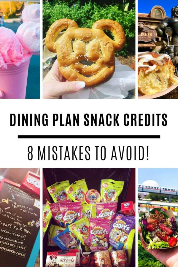 Don't make these mistakes with your Disney dining plan snack credits!