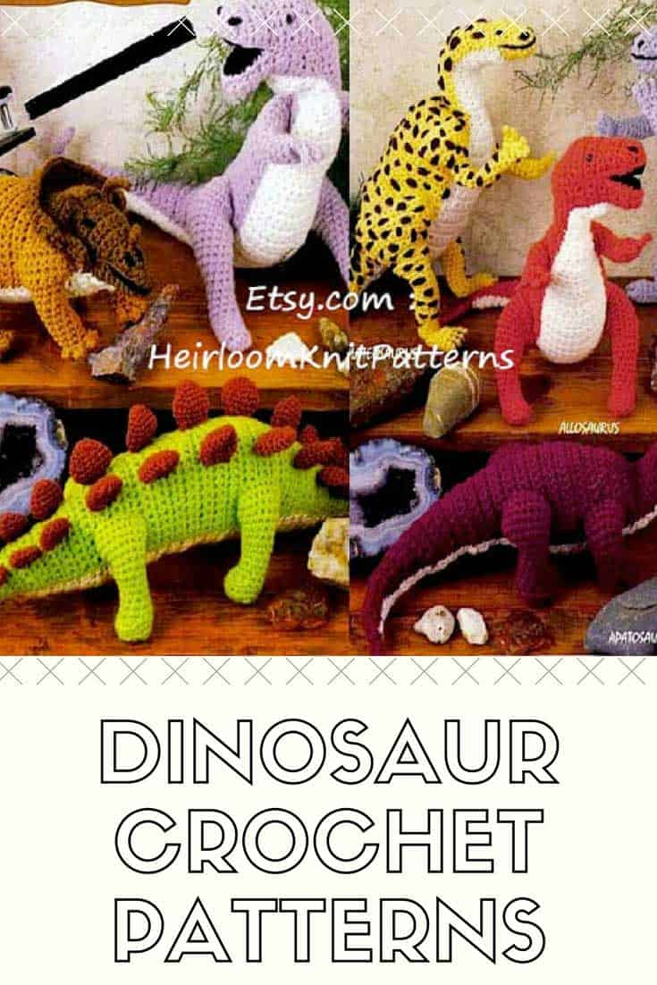 8 Adorable Dinosaur Crochet Patterns You'll Want to Make