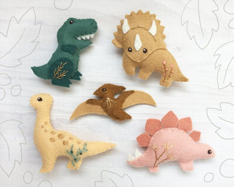 Dinosaur Felt Animals