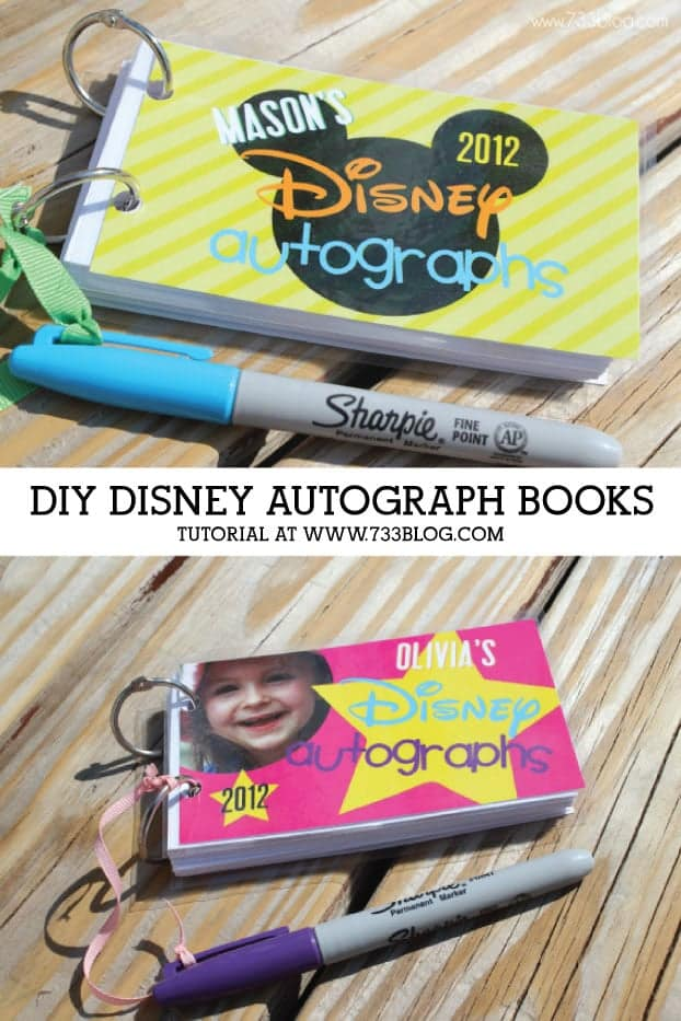 Disney Autograph book tutorial