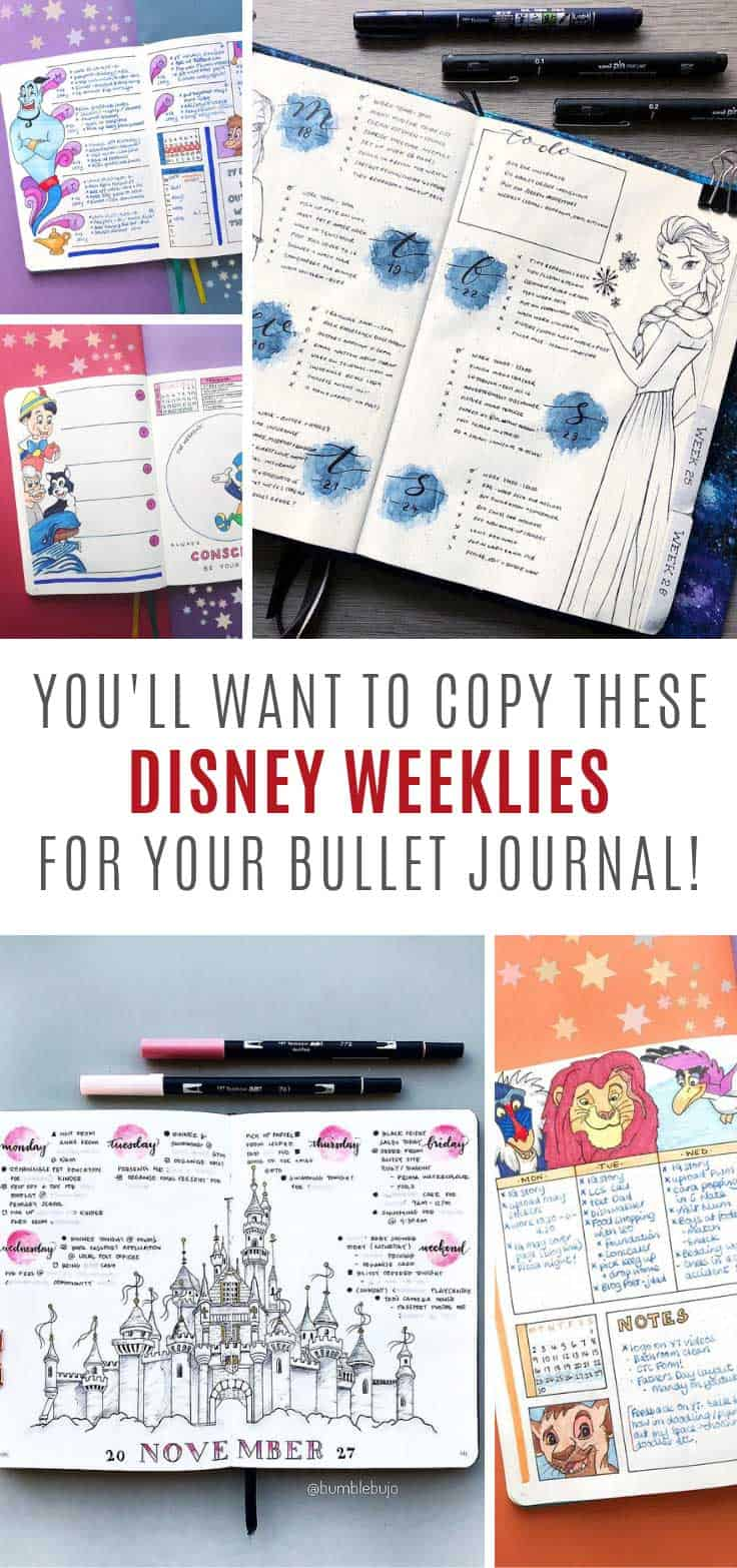 LOVING these Disney bullet journal ideas!