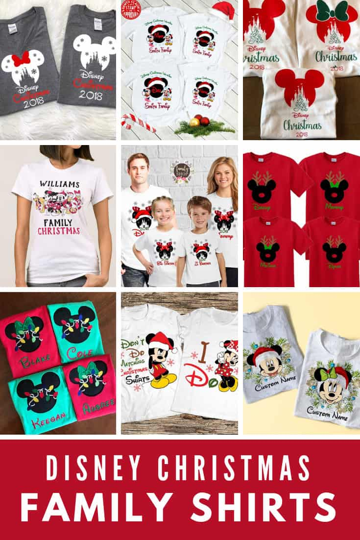 Disney Christmas Family Shirts {Go matching for your vacation!}