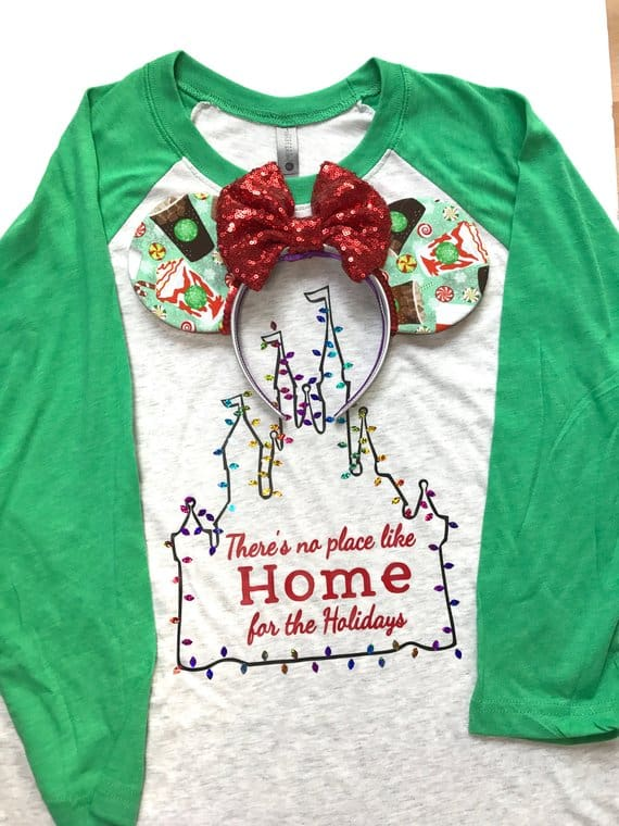 Disney Christmas Shirt Home for the Holidays