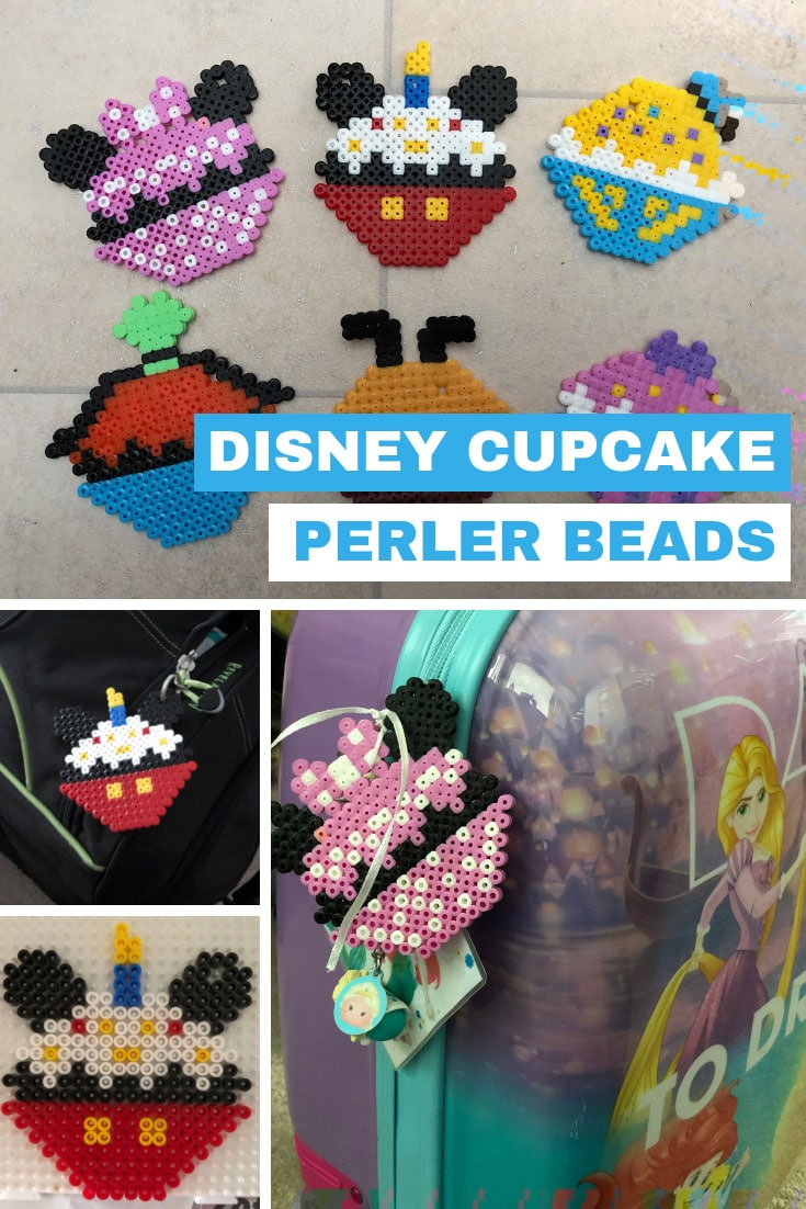 Disney Cupcake Hama Bead Designs