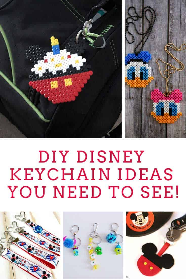 These Disney DIY keychain ideas make great fish extender gifts for your cruise!