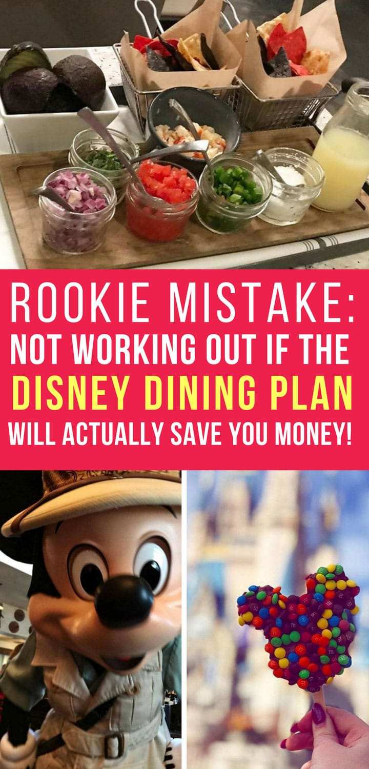 Disney Dining Plan Mistakes