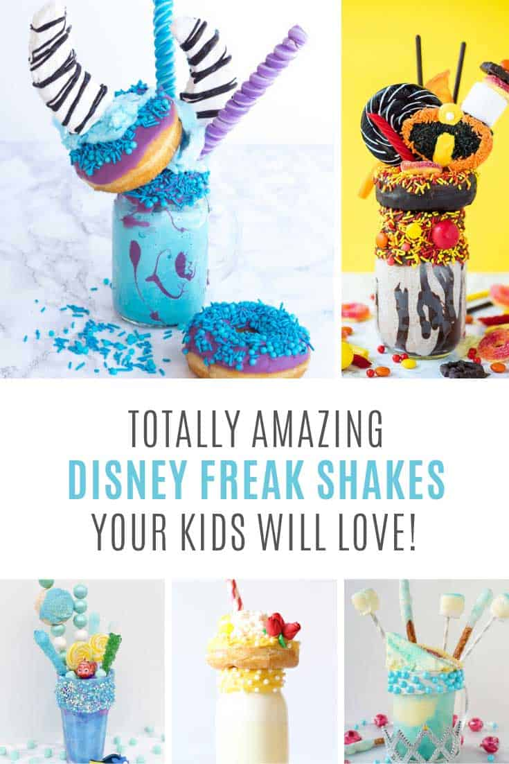 Wowzers - did you ever see anything as crazy as these Disney freak shake recipes!!