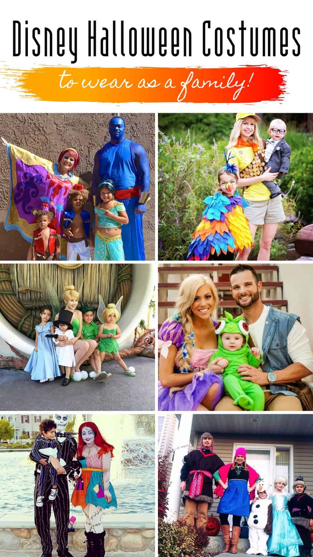 These Disney Halloween costumes are genius and perfect ideas for your family! #halloween #mnsshp