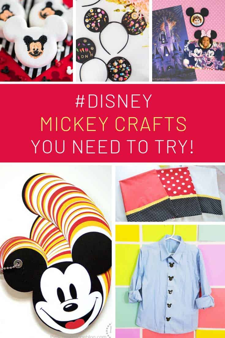 So many fun Disney inspired Mickey Mouse craft ideas!