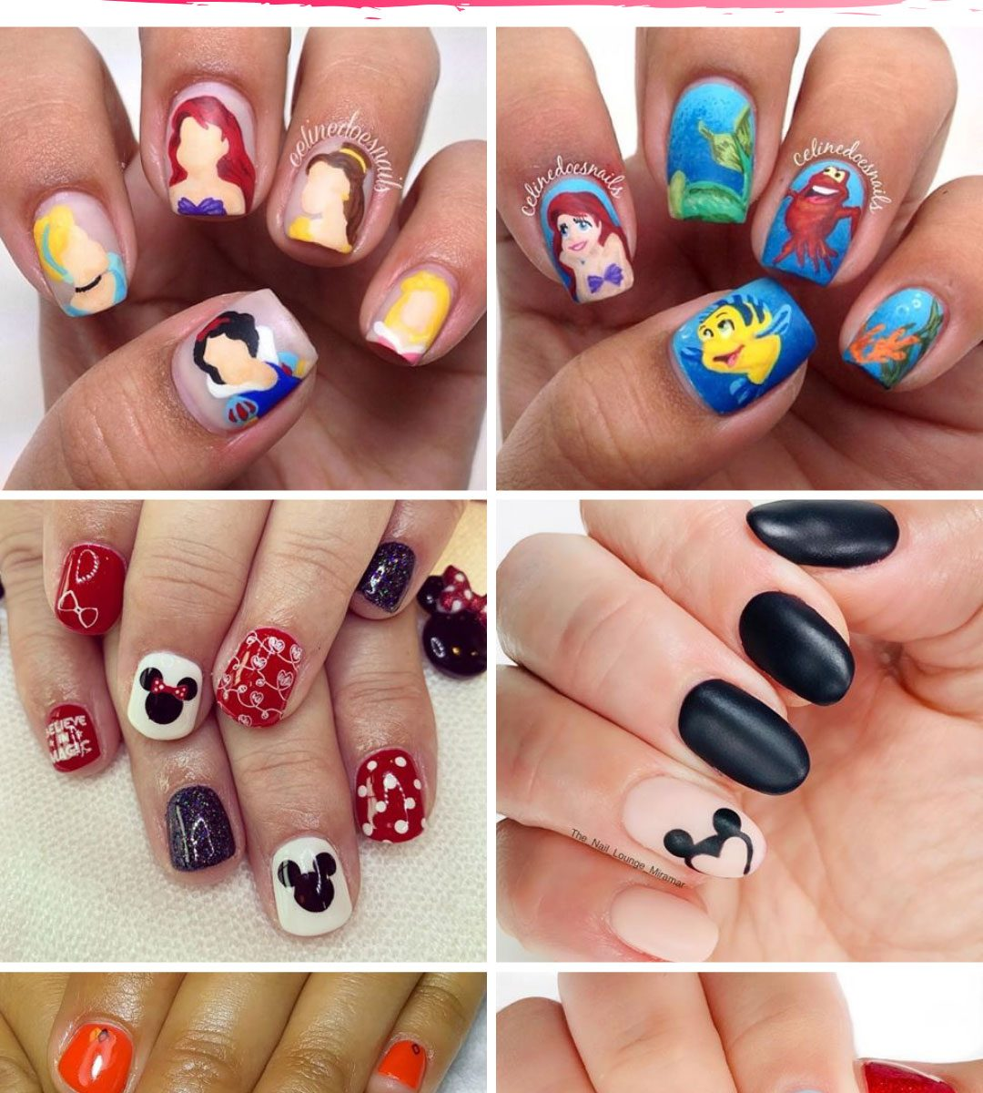 Whether you're heading out to Disney World on vacation or you just want to share your favorite movie with the world you need to check out these Disney nail art ideas to try for yourself! #disney #nailart