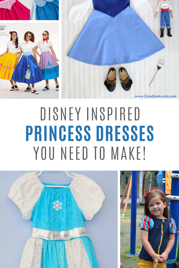These Disney princess sewing patterns are just what you need to make vacation play dresses!
