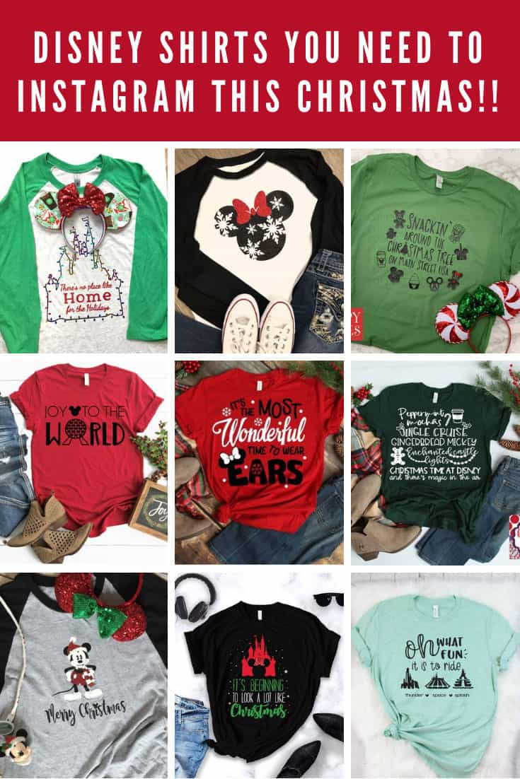 Disney Shirts for Instagram this Christmas