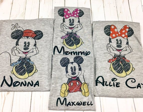 Disney Sketch Family Shirts