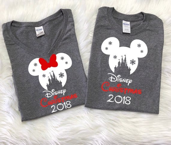 Disney Snowflake Castle Christmas Vacation Shirts