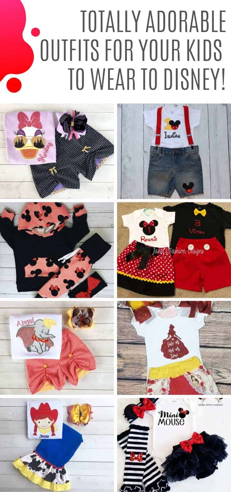 Loving these Disney inspired outfits for children! Perfect for a Disney World vacation! #disneybound
