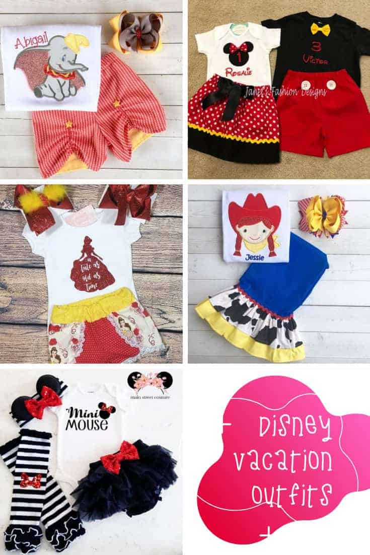 How cute are these Disney vacation outfits for kids! Minnie and Mickey and princess outfits that are cool and comfortable!