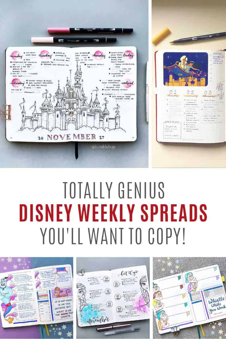 These Disney weekly spreads are just what you need to put a smile on your face!