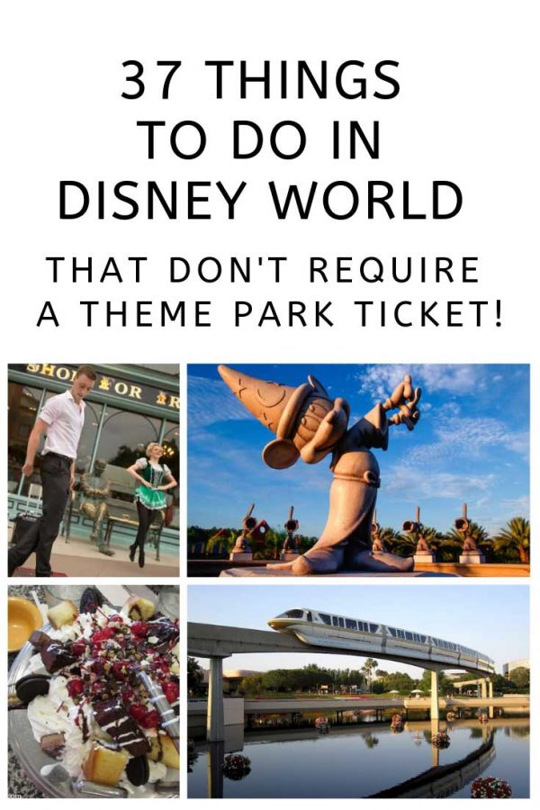 Wow who knew there was so much you could do at Disney World without actually going to a themepark!