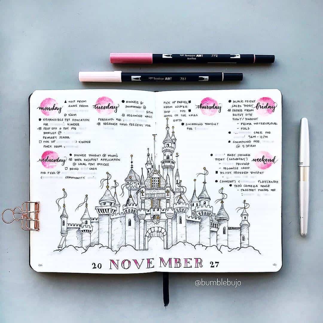 Disney Castle Weekly Spread