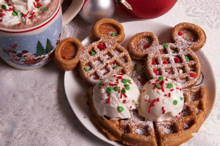 Disney World's Christmas Party Pumpkin Spice Waffle Copycat!