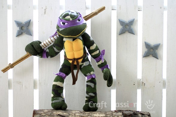 Sock Ninja Turtle Pattern