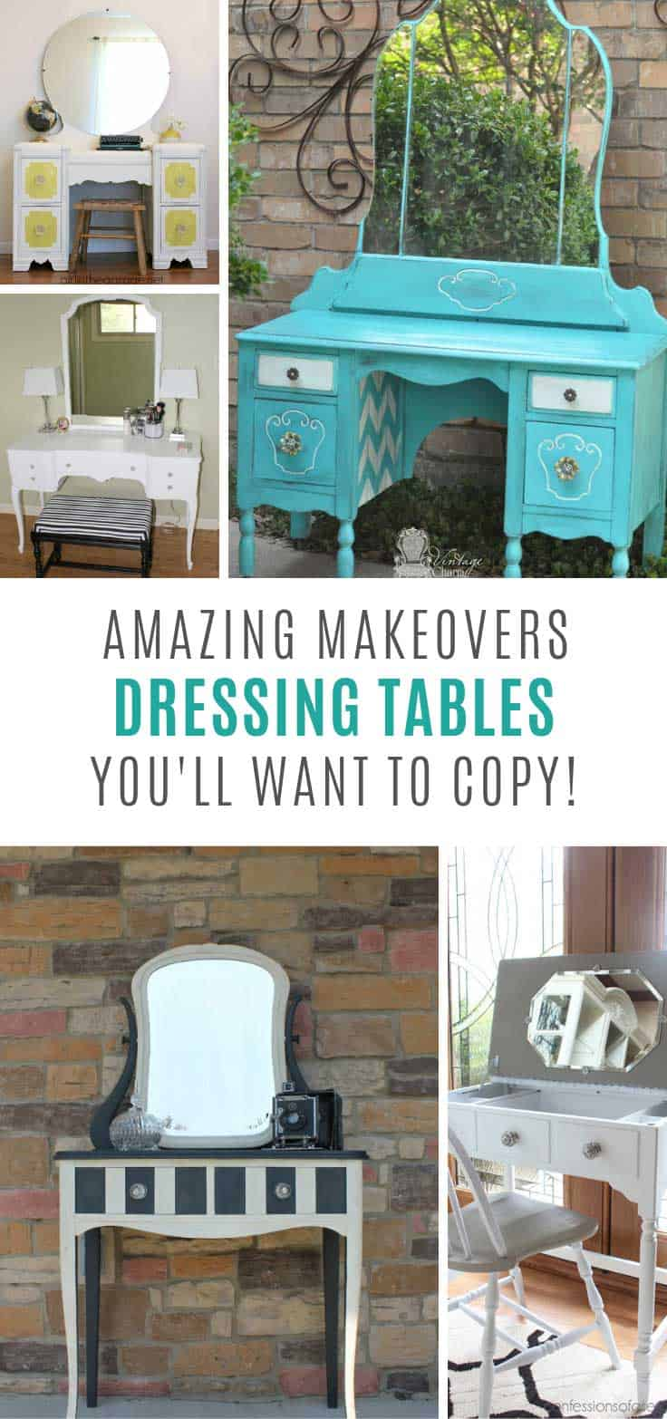 Wow these dressing table makeovers are amazing!