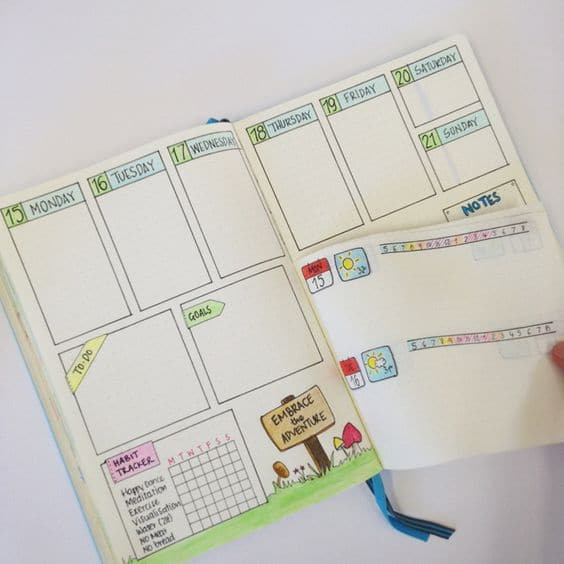 Dutch Door Hack Bullet Journal