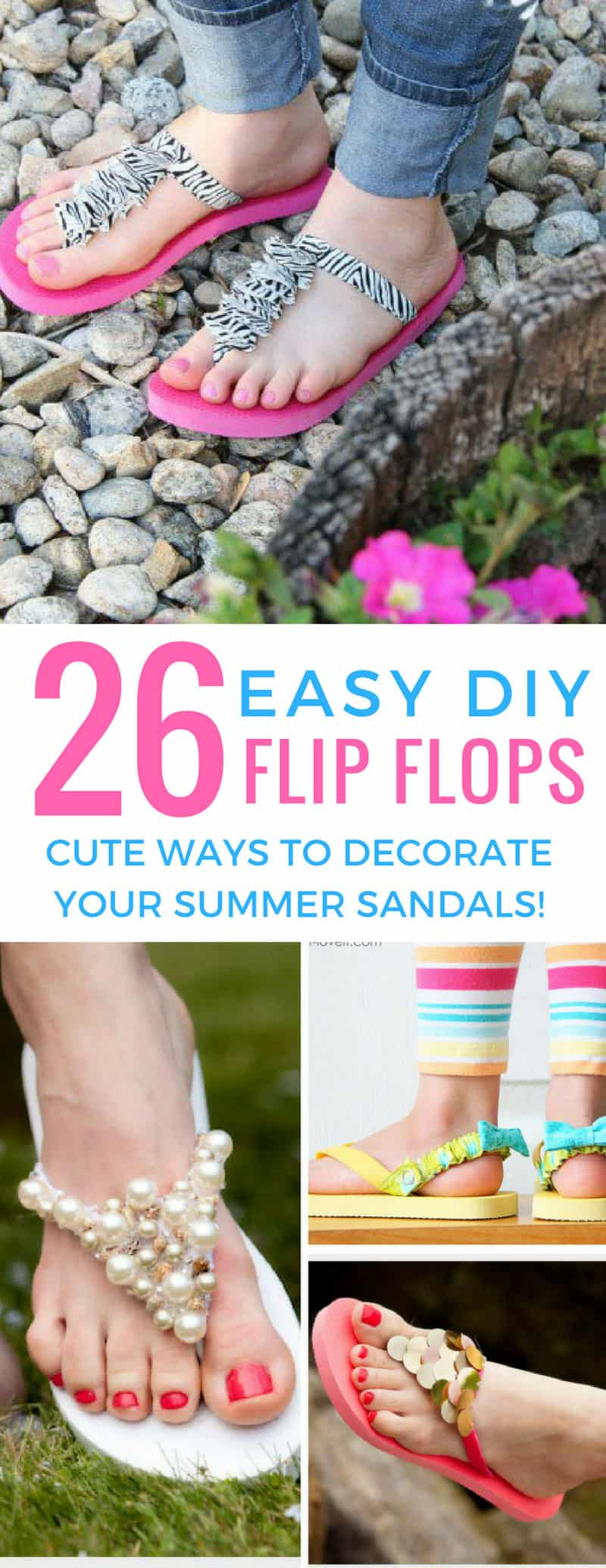 These easy DIY flip flop ideas are perfect for making summer sandals that look great! Thanks for sharing!