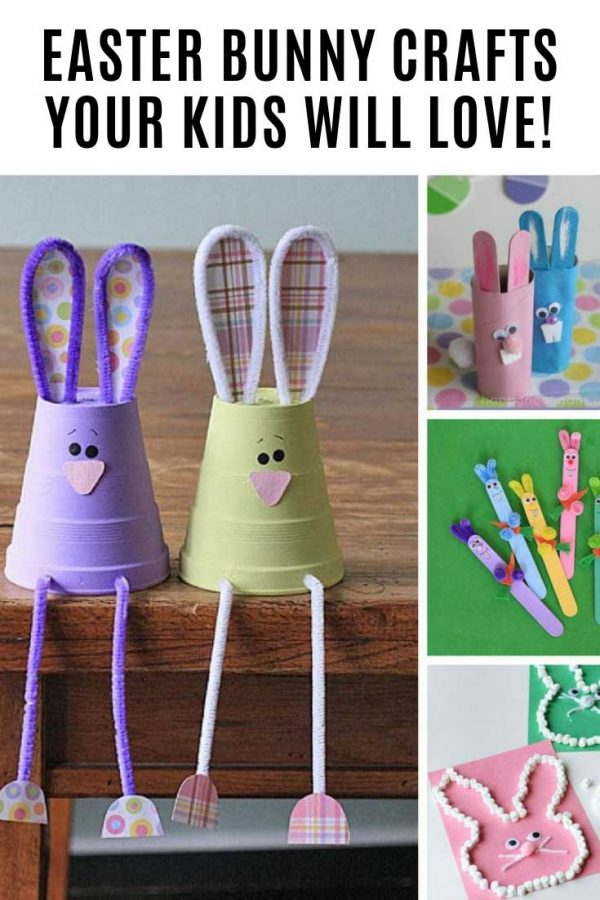 These Easter bunny crafts are so much fun!