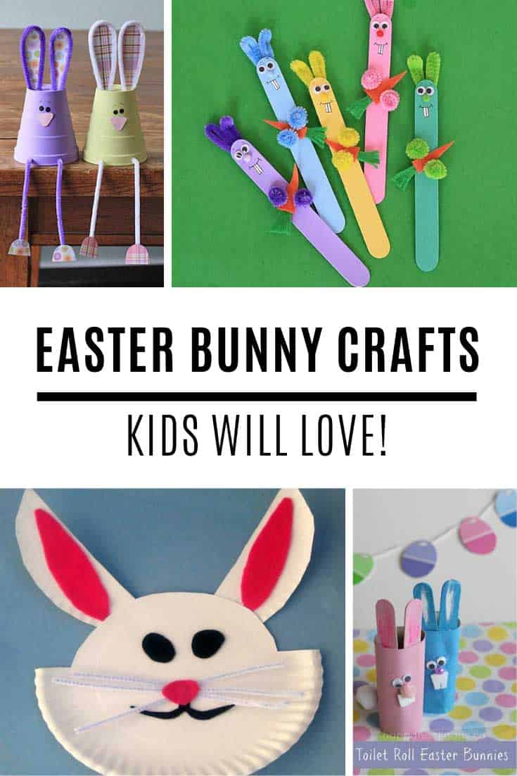 Your kids will LOVE these Easter bunny crafts!