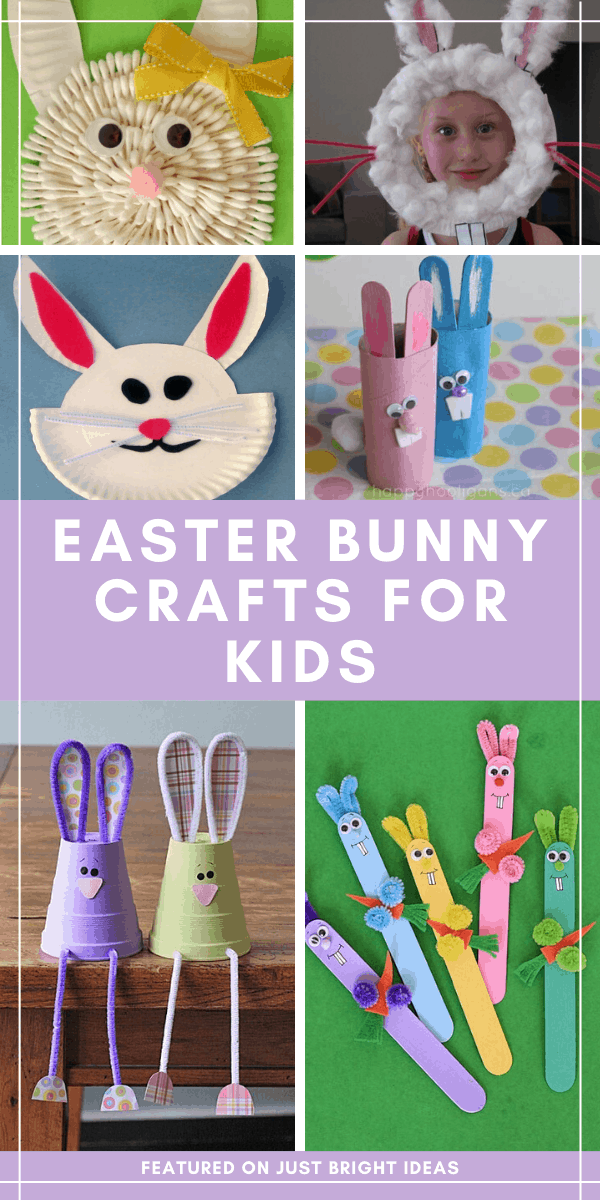 Loving these Easter bunny crafts - they're so cute! And your toddlers and preschoolers will have fun making them!