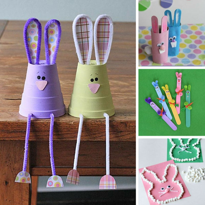 10 adorable easter bunny crafts for kids to make this weekend