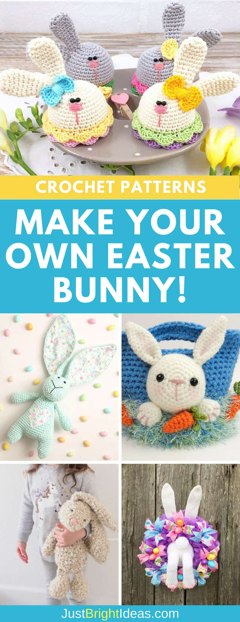 Easter Bunny Crochet patterns Pinterest