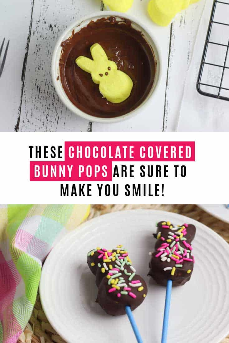 You have to make these Easter bunny pops. They make the perfect centerpiece for your Easter celebrations and they taste as yummy as they look!