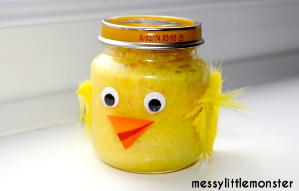 Easter Chick Cake in a Jar