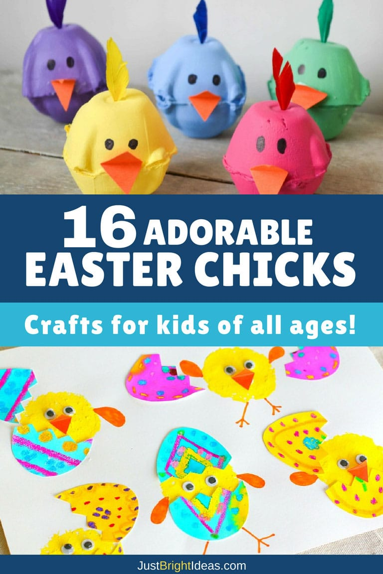 16 easter chick crafts for kids of all ages for Fun crafts for all ages