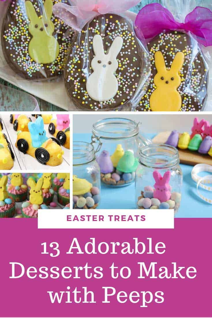 Whether you want something so simple the kids can help you put it together, or a show-stopping centerpiece to your Easter table that will have your guests drooling you are sure to find something to suit in this list of Easter dessert PEEP ideas!