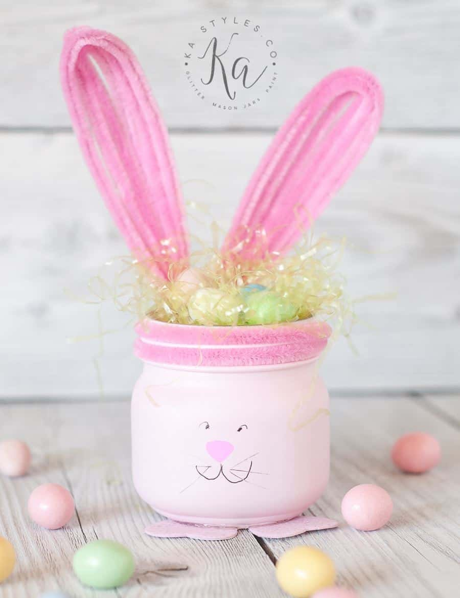 Easter Mason Jar Bunnies